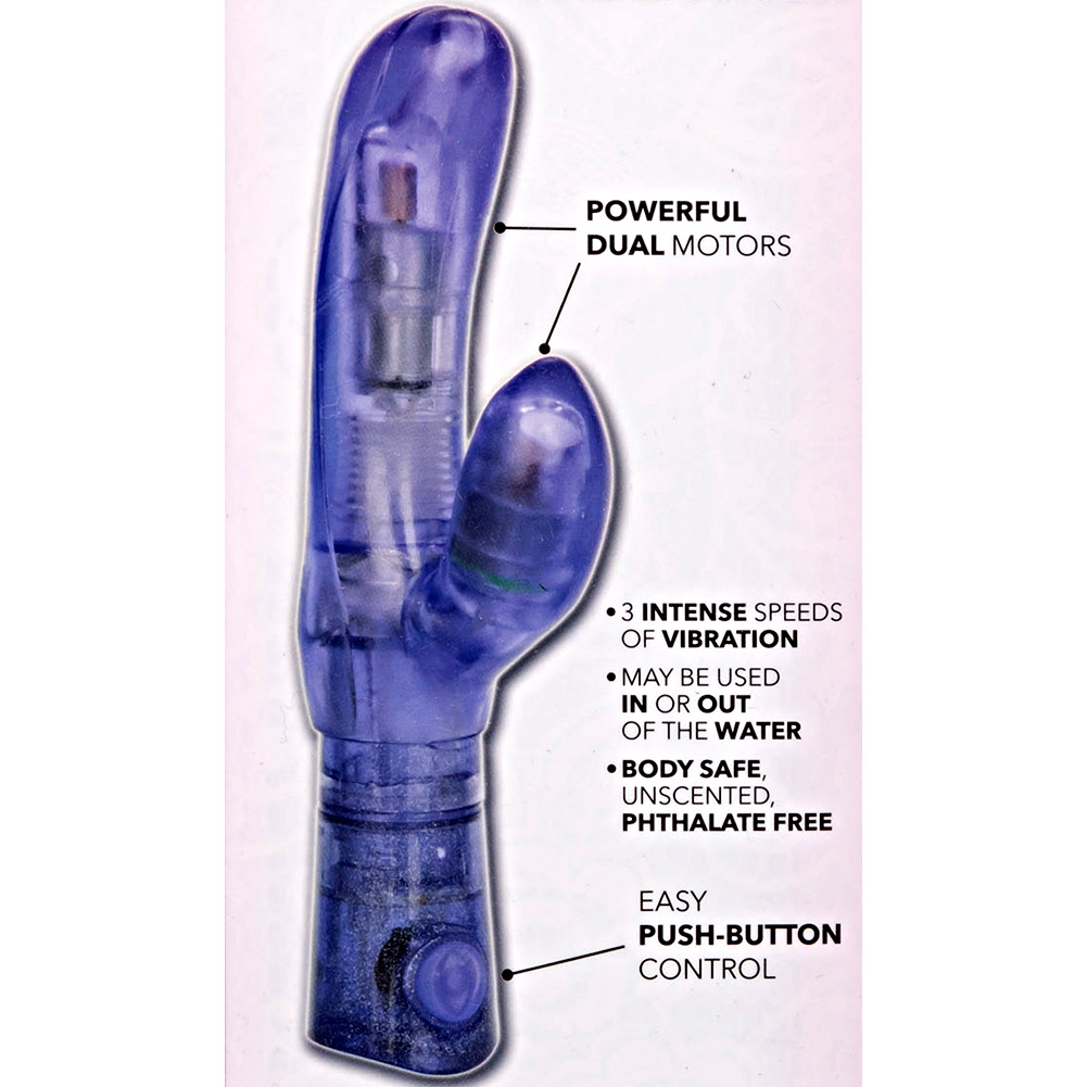 "California Exotics First Time Dual Exciter Intimate Vibrator 7.5"" Purple - View #1"