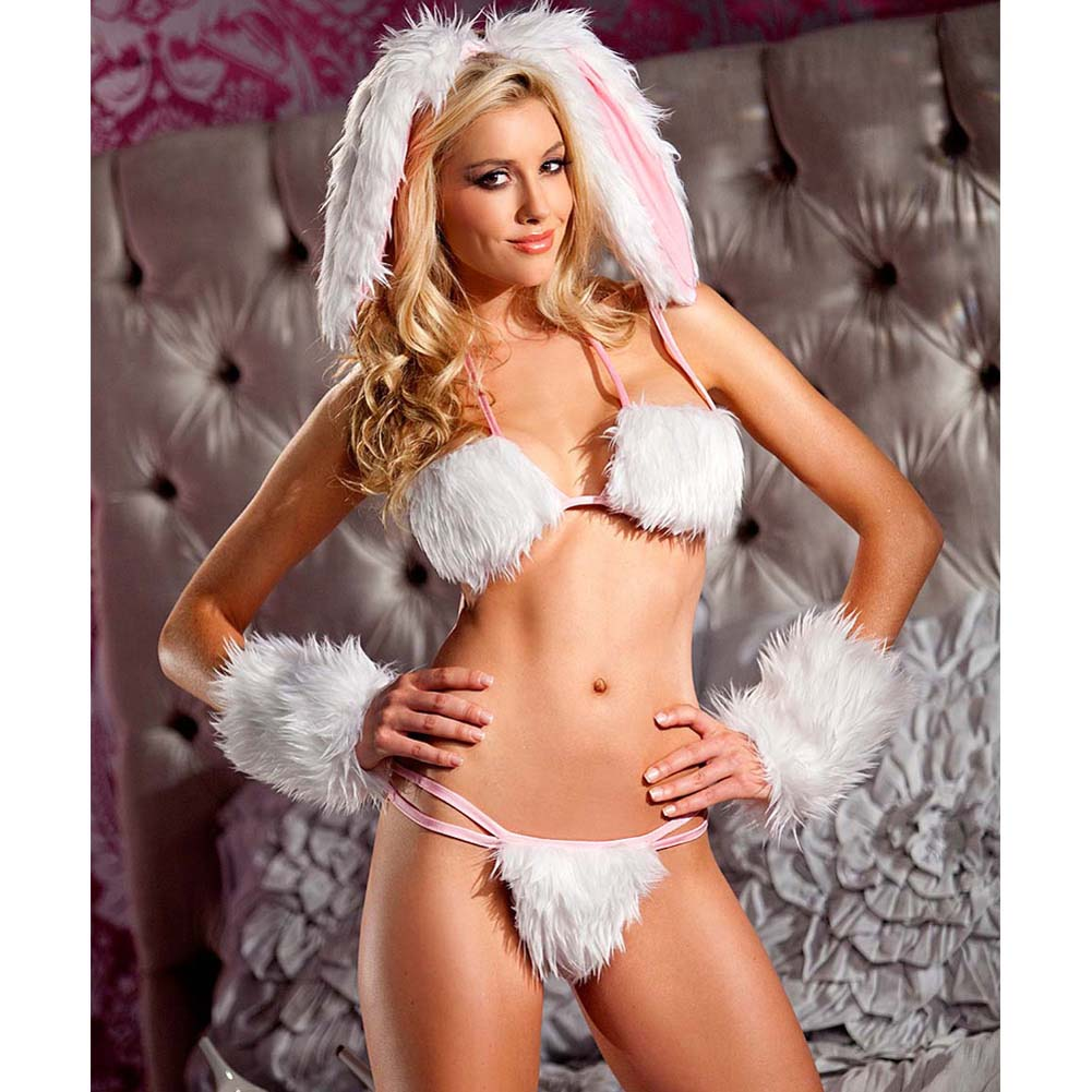 Be Wicked Playful Bunny Costume 4 Pieces Set Small/Medium - View #3