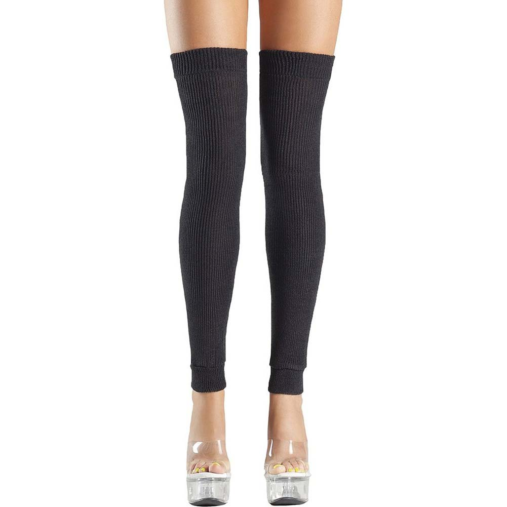 Be Wicked Thigh High Leg Warmer One Size Black - View #1
