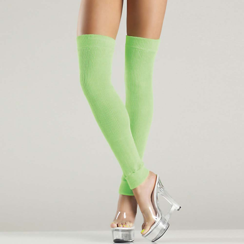Be Wicked Thigh High Leg Warmer One Size Green - View #2