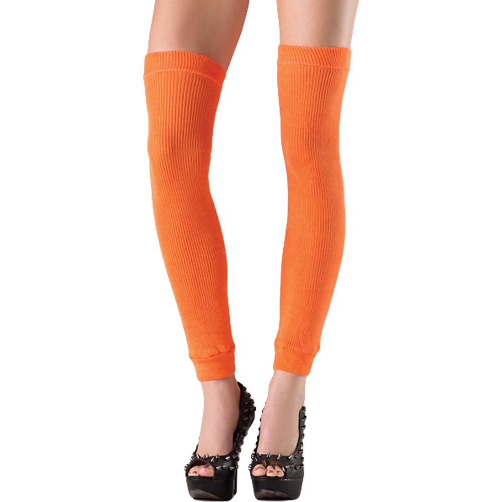 Be Wicked Thigh High Leg Warmer One Size Orange - View #1
