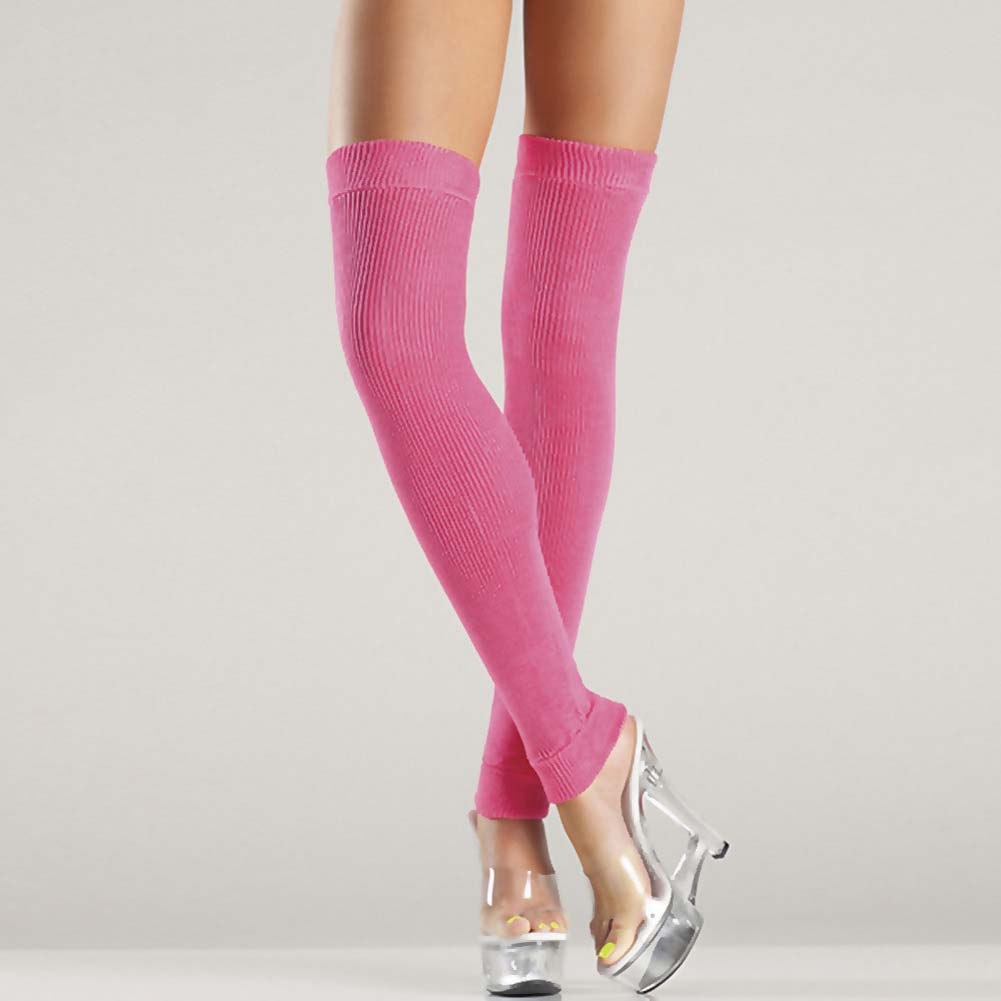Be Wicked Thigh High Leg Warmer One Size Hot Pink - View #2