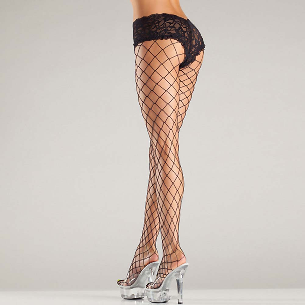 Be Wicked Fence Net Tights with Boyshort Top One Size Black - View #3