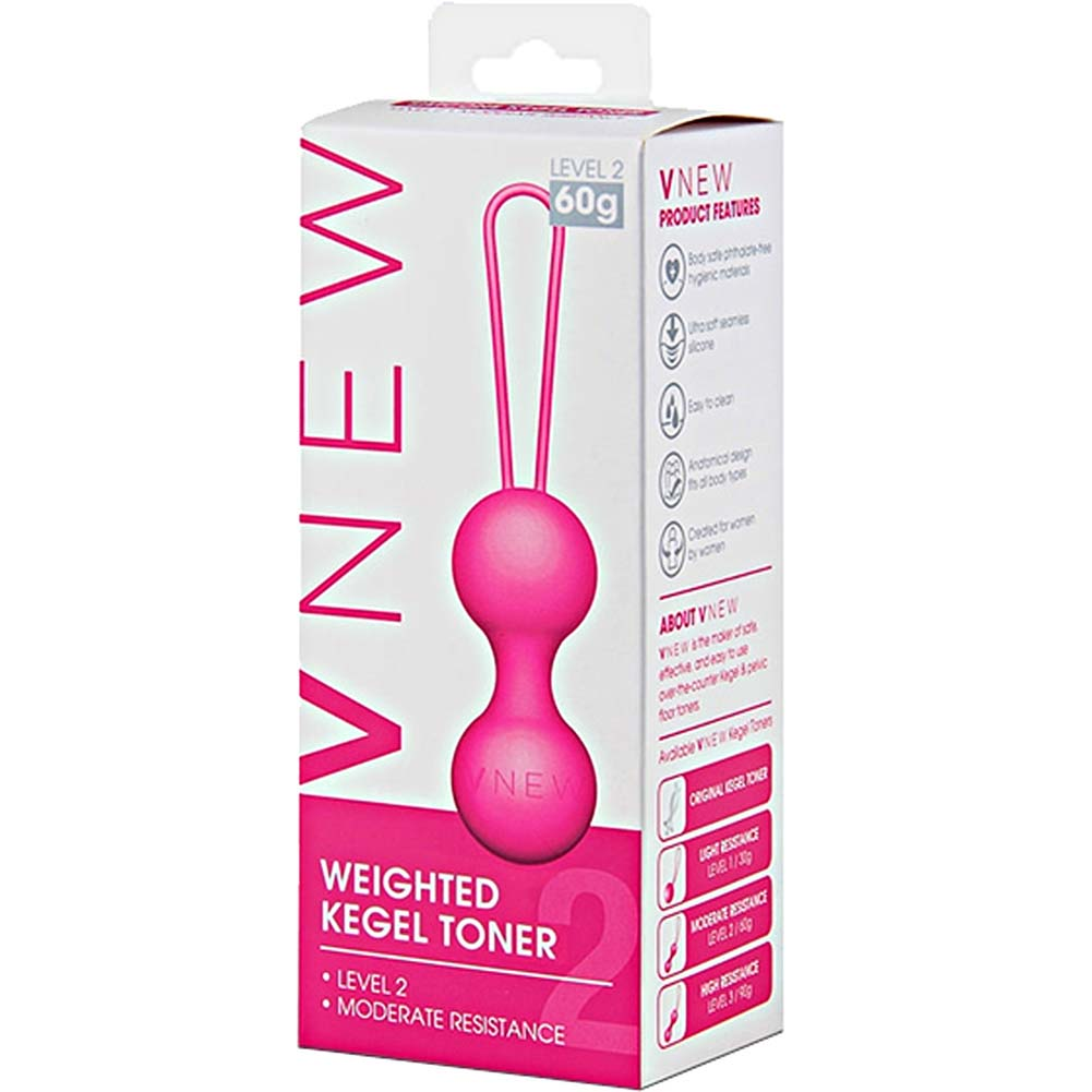 VNEW Silicone Weighted Kegel Toner Level 2 / 60 Gram Pink - View #1
