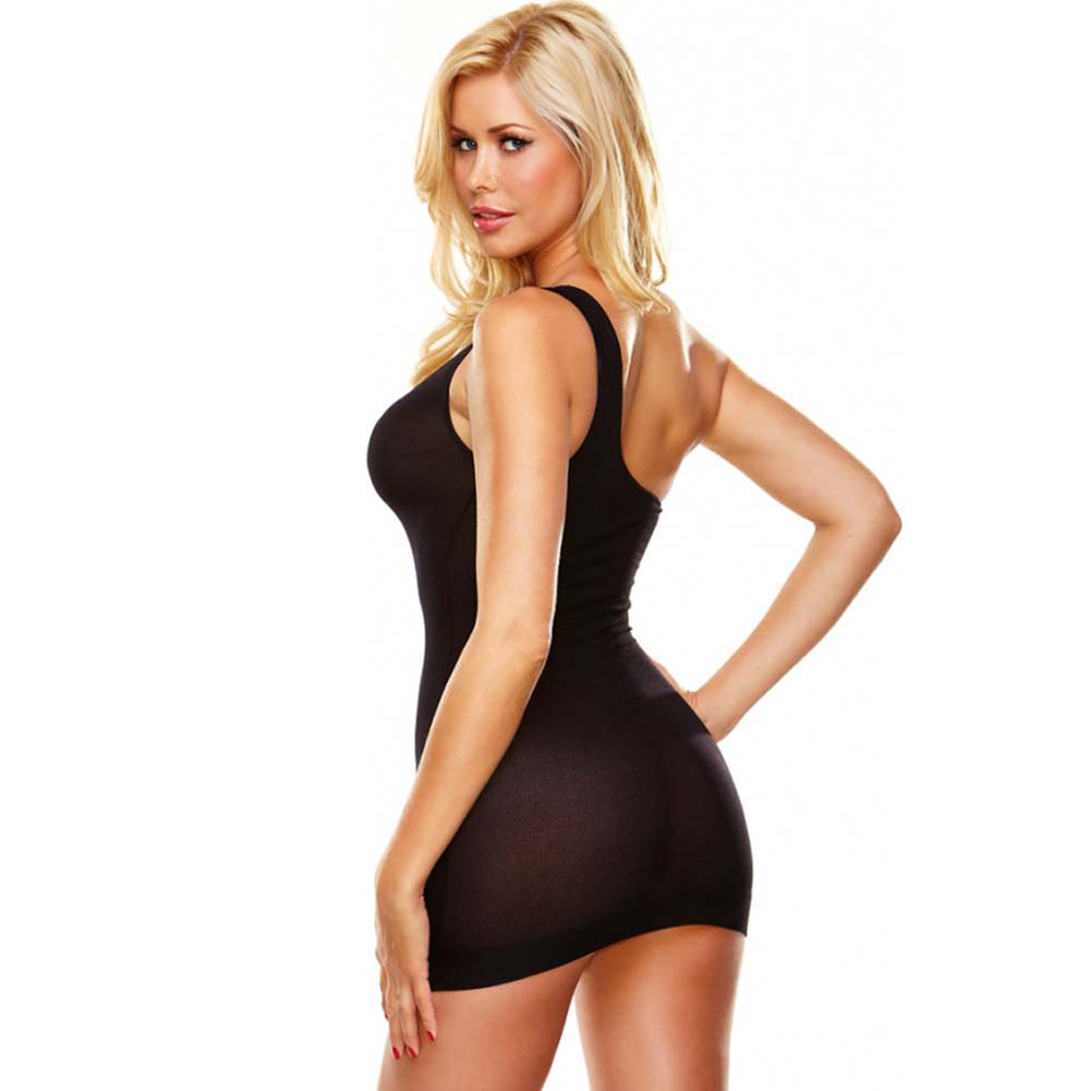 Hustler Seamless Sheer Mini Dress One Size Black - View #2