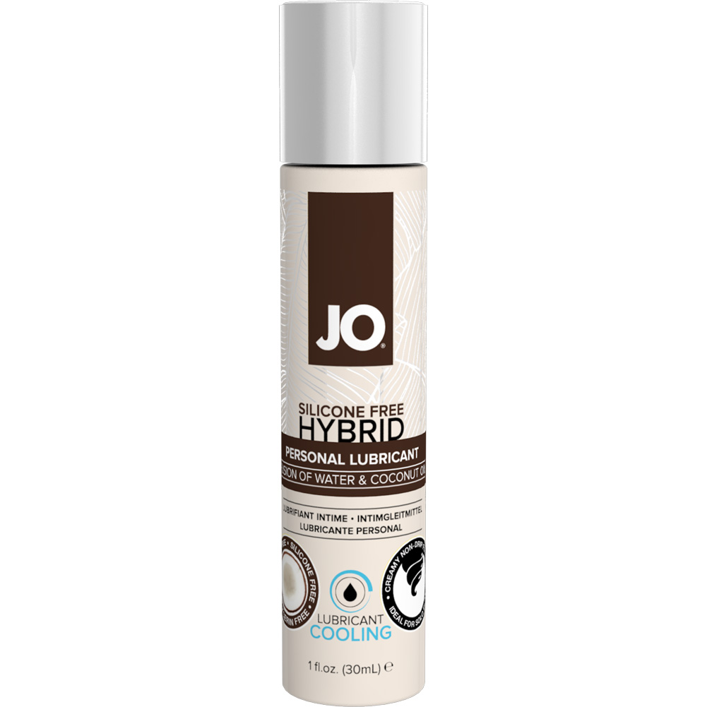 JO Silicone Free Hybrid Lubricant with Coconut Cooling 1 Fl. Oz. 12 Pieces Display Box - View #1
