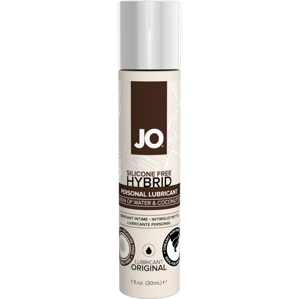 JO Silicone Free Hybrid Lubricant with Coconut Original 1 Fl. Oz. 12 Pieces Display Box - View #1
