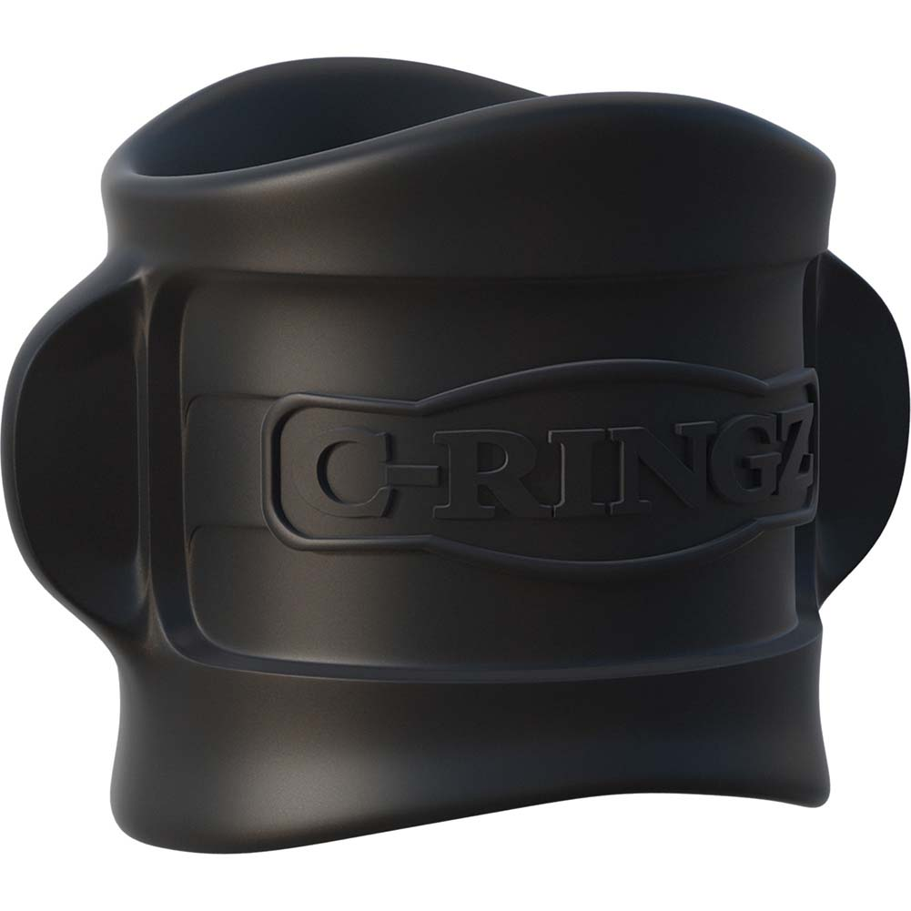 Fantasy C-Ringz Silicone Ball Stretcher Black - View #2
