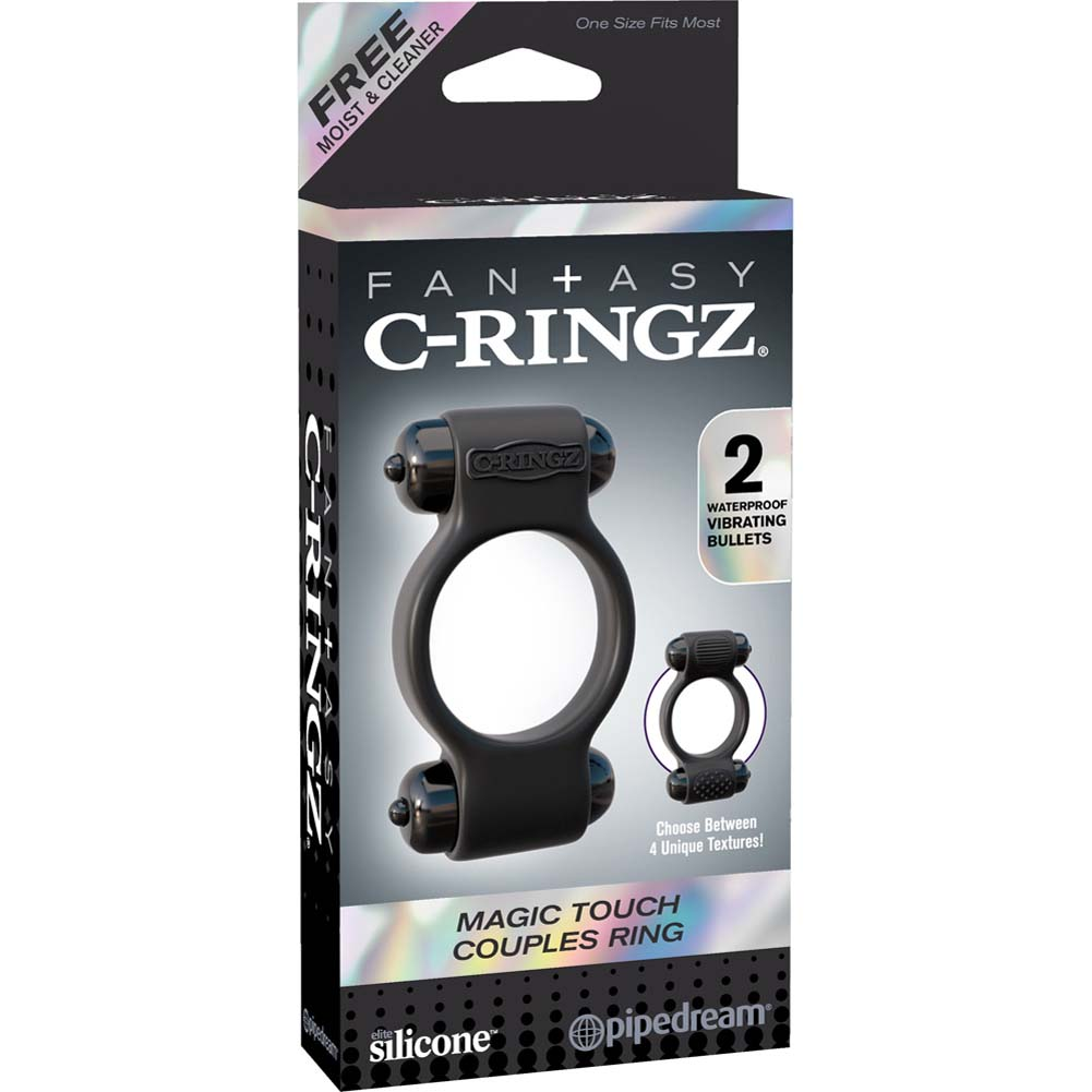 Fantasy C-Ringz Magic Touch Couples Ring Black - View #1