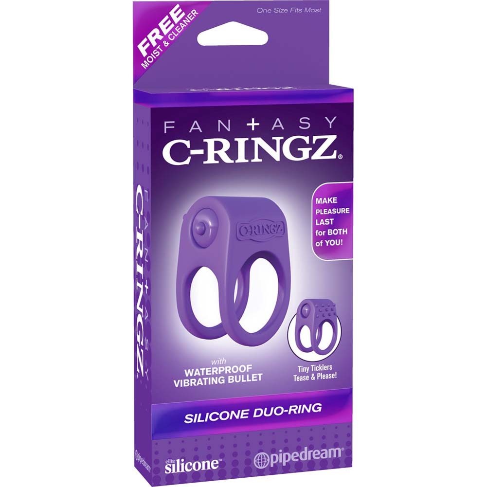Fantasy C-Ringz Silicone Duo-Ring Purple - View #4