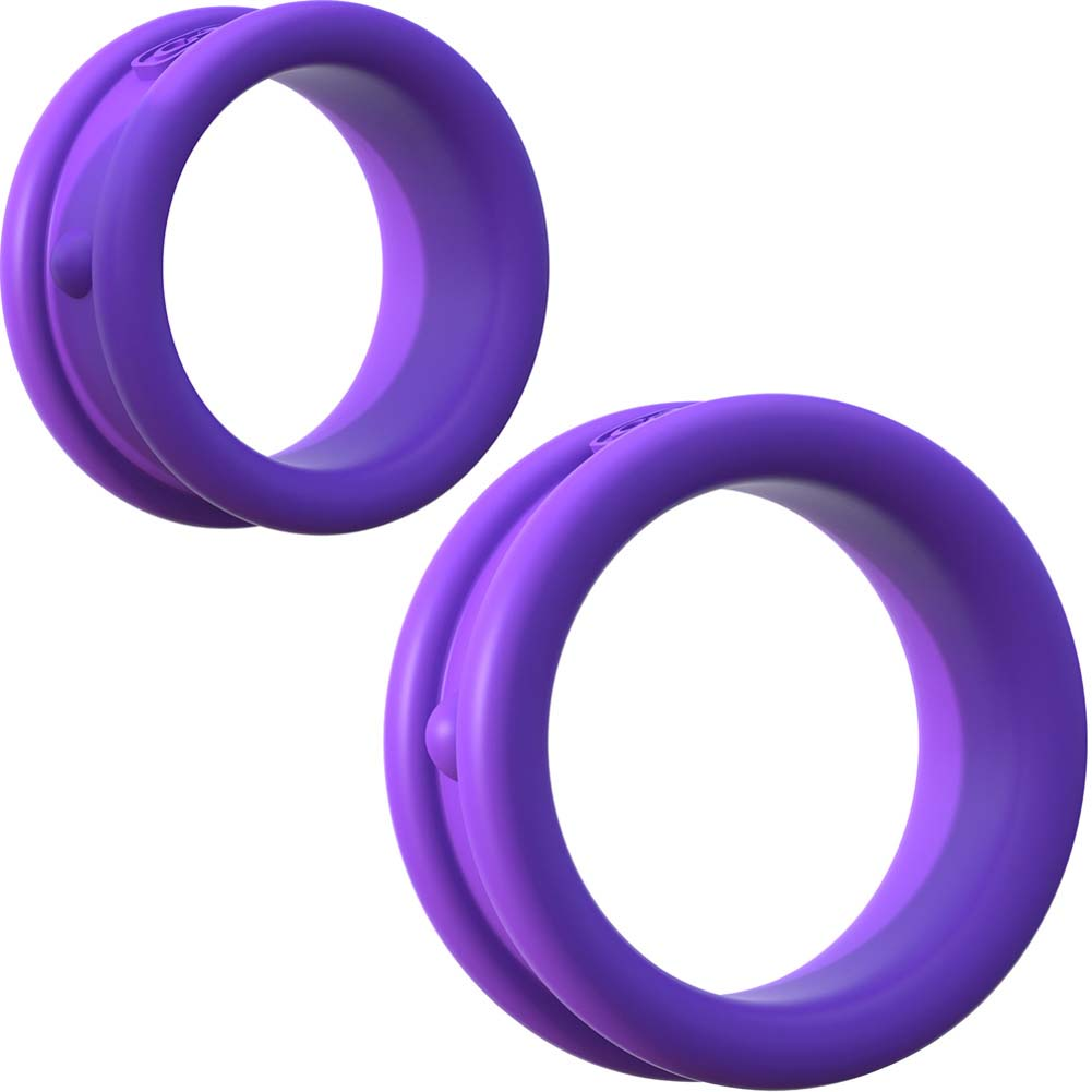 Fantasy C-Ringz Max Width Silicone Rings Purple - View #2