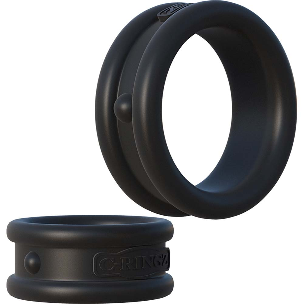 Fantasy C-Ringz Max-Width Silicone Rings Black - View #3