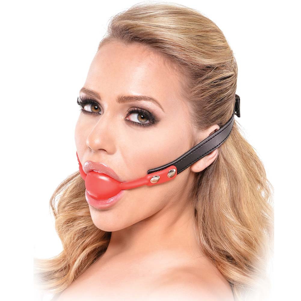 Fetish Fantasy Series Silicone Ball Gag Red - View #2