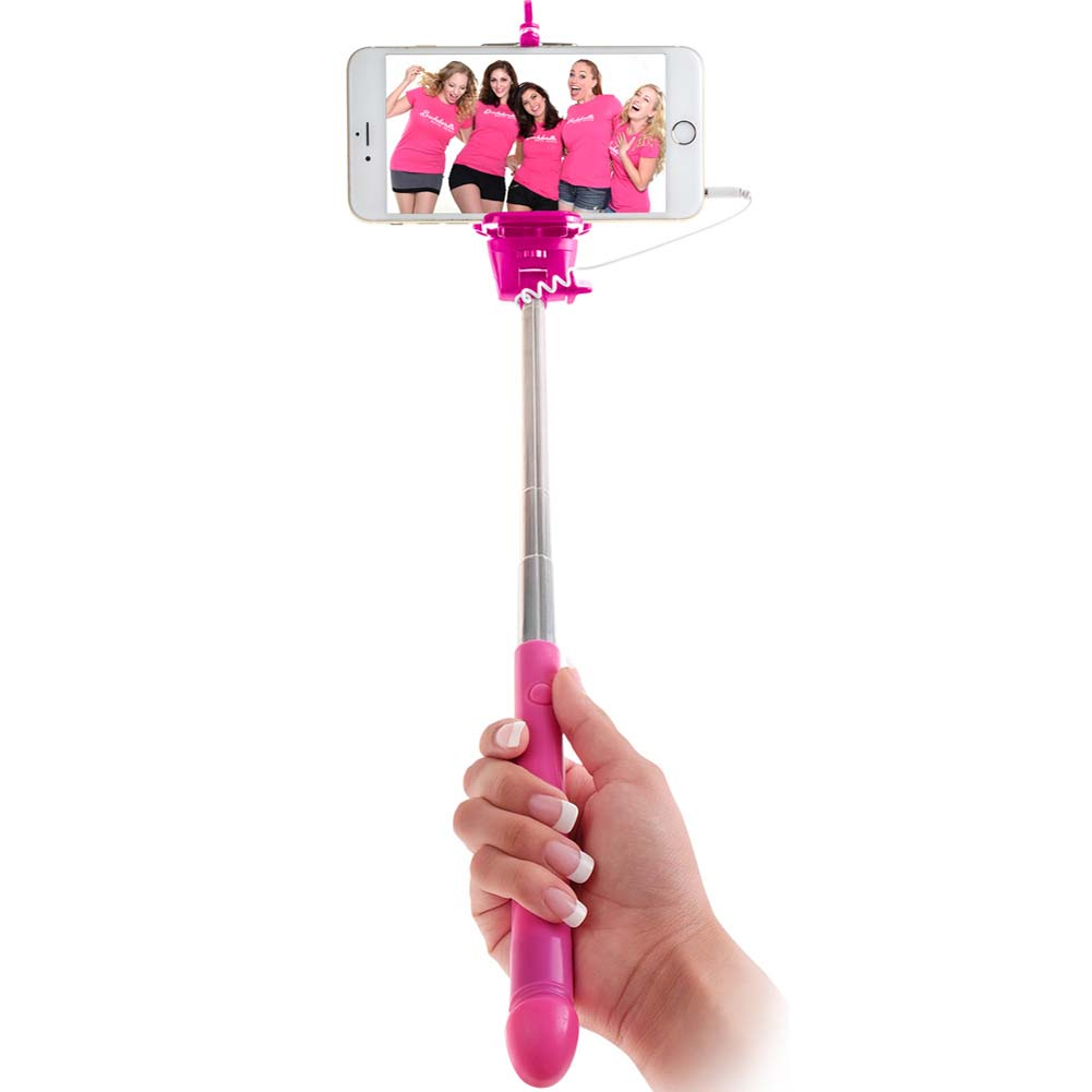 Bachelorette Party Favors Dicky Selfie Stick Pink - View #2