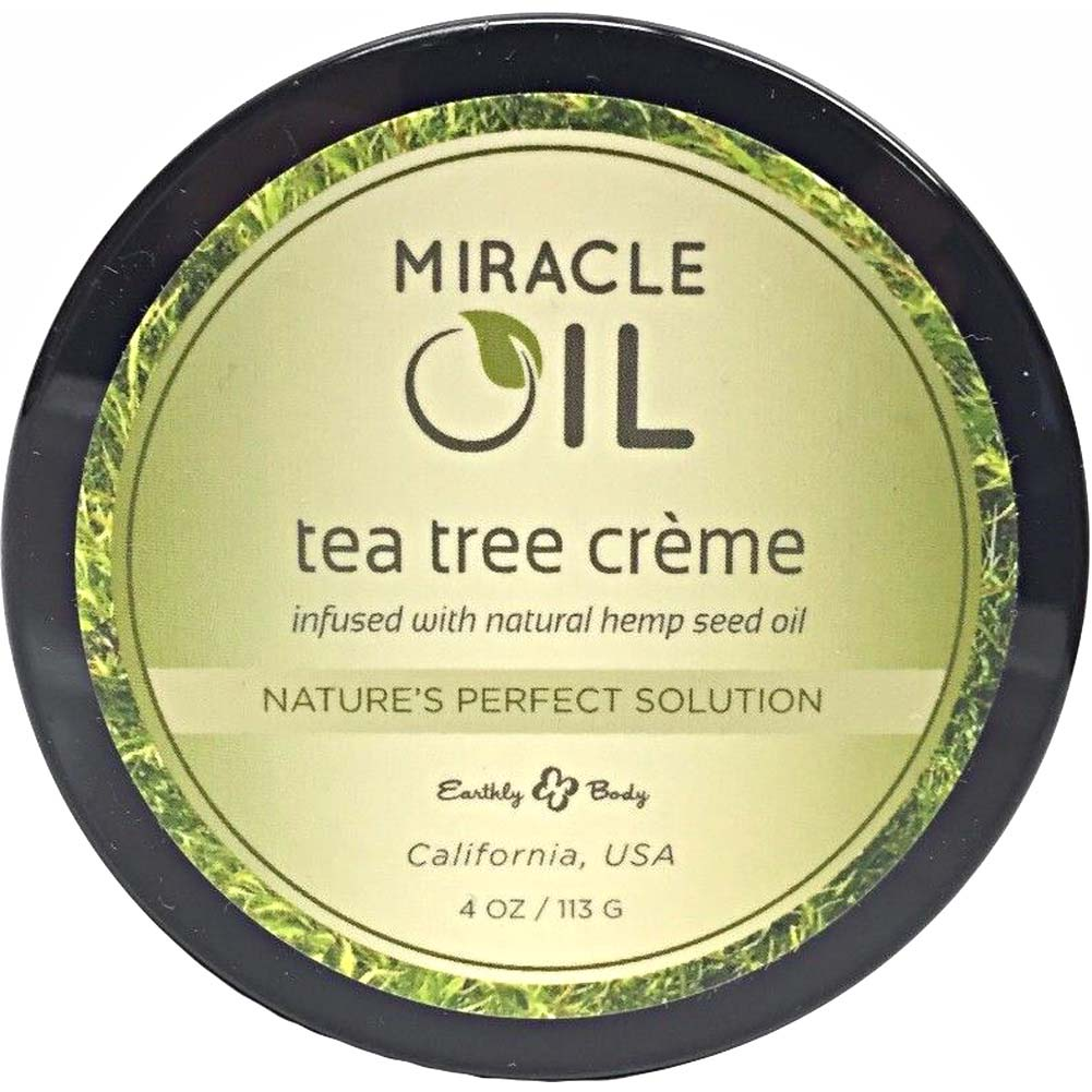 Earthly Body Miracle Oil Tea Tree Creme 4 Oz 113g - View #2