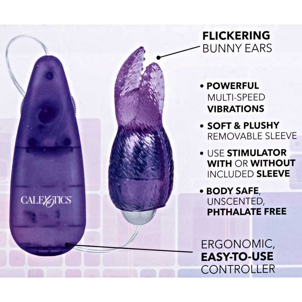 "Pocket Exotics Snow Bunny Bullet Vibrator 4"" Purple - View #1"