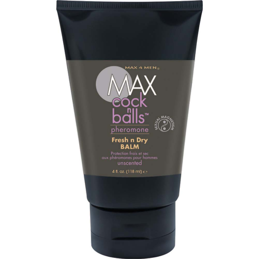 MAX Cock N Balls Fresh N Dry Ball Balm with Pheromones Unscented 4 Fl. Oz. Tube - View #1
