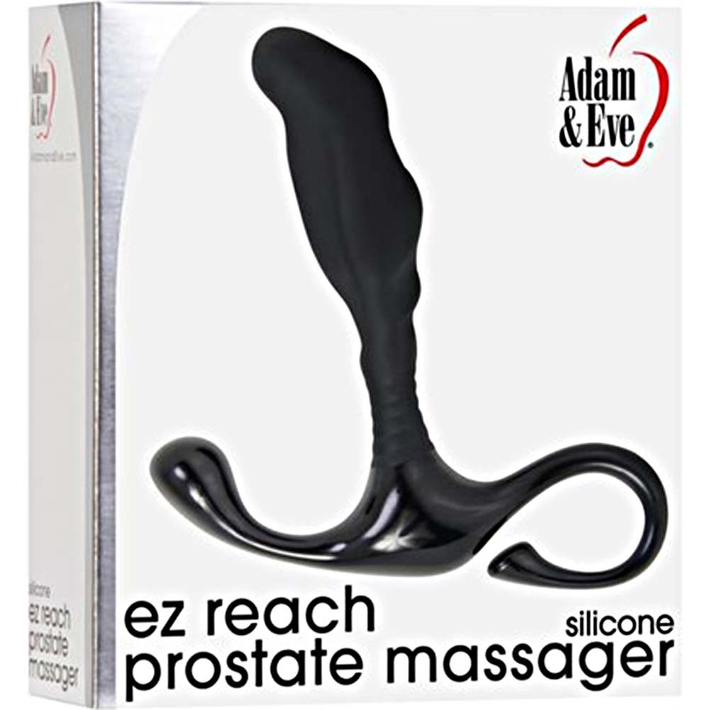 "Adam and Eve EZ Reach Prostate Massager 6"" Black - View #4"