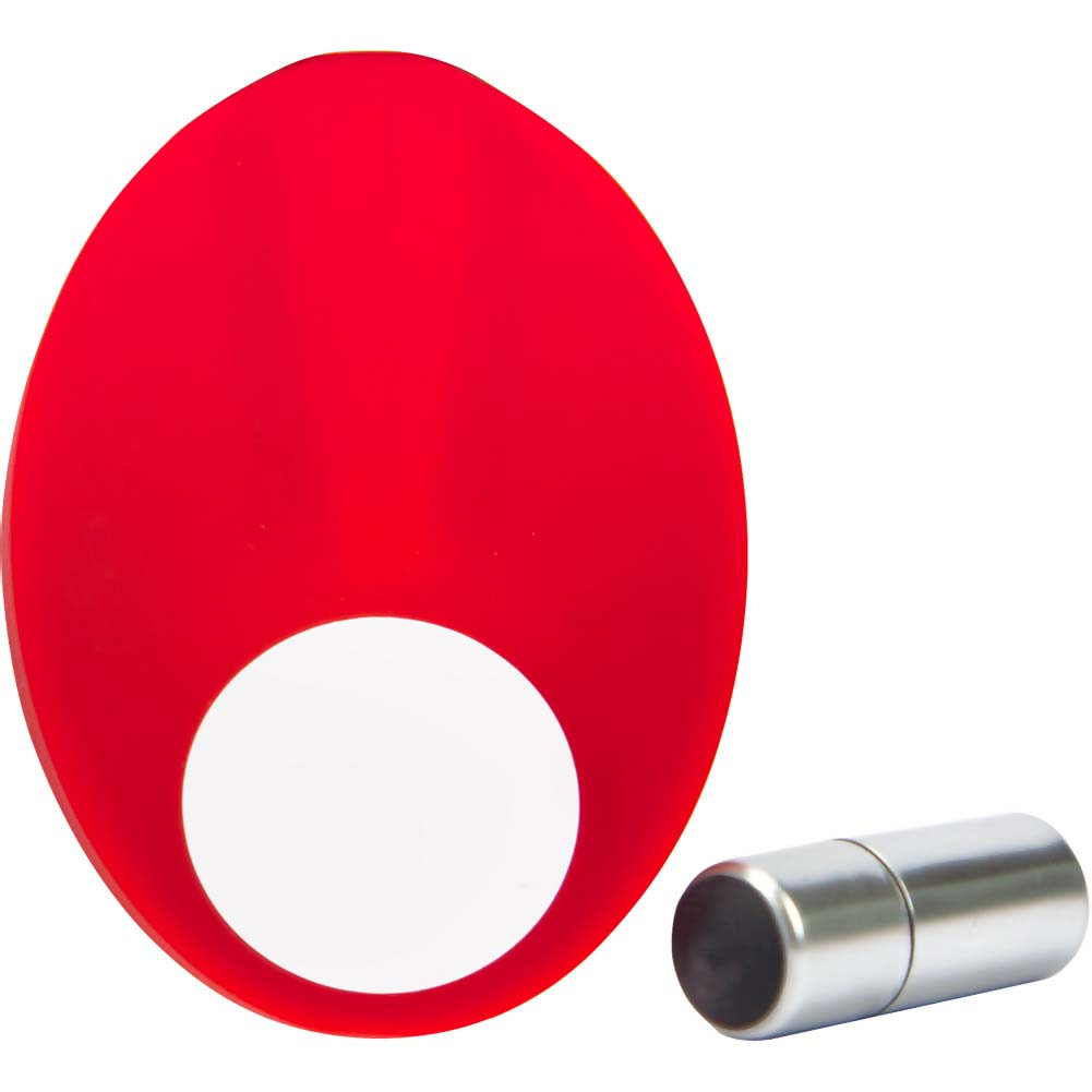 Caliber Vibrating Silicone Cock Ring Red - View #1