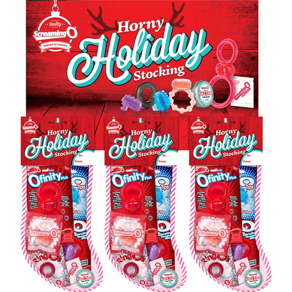 Screaming O Horny Holiday Stocking Display Box with 6 Stockings - View #1