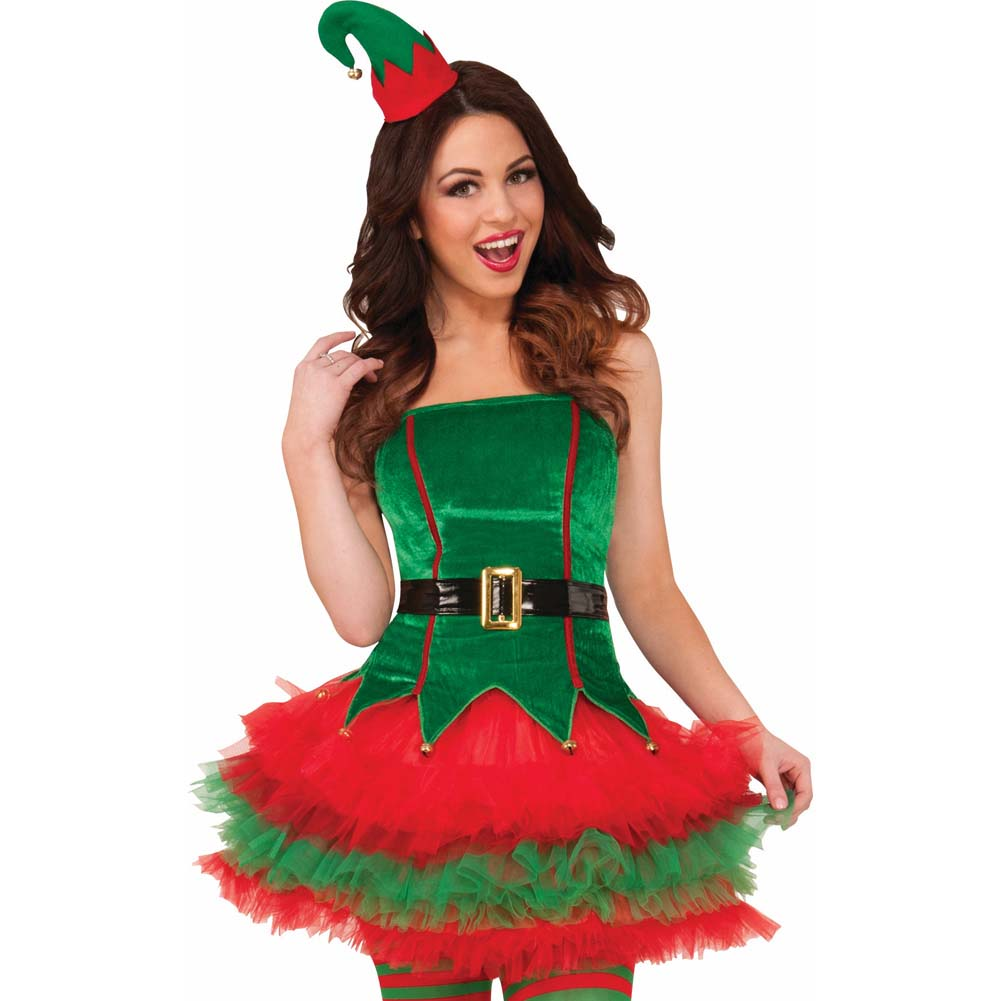 Sassy Elf Costume Sexy Holiday Wear Medium/Large - View #2
