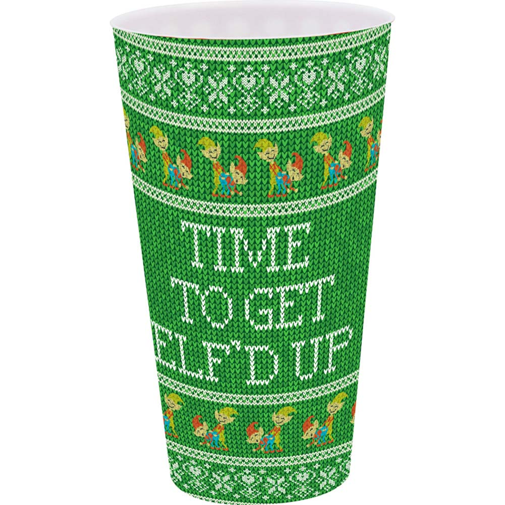 Kalan Elf-D Up Time Naughty Christmas Playful Novelty Plastic Cup Holiday Green - View #1