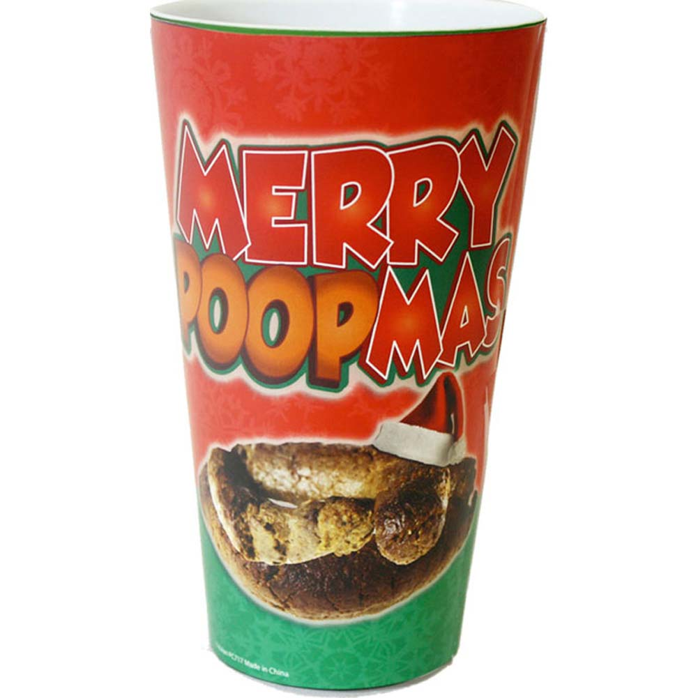 Merry Poopmas Christmas Plastic Cup - View #1