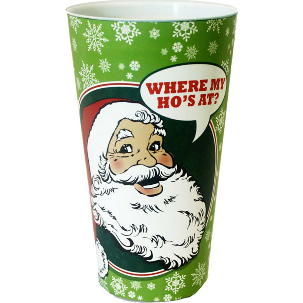 Where My HoS At Christmas Plastic Cup - View #1