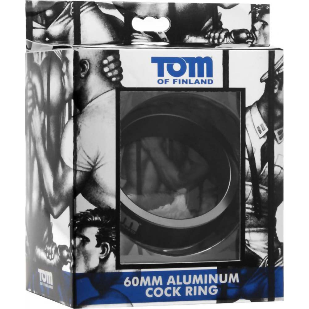 Tom of Finland Aluminum Cock Ring 60 Mm Black - View #1