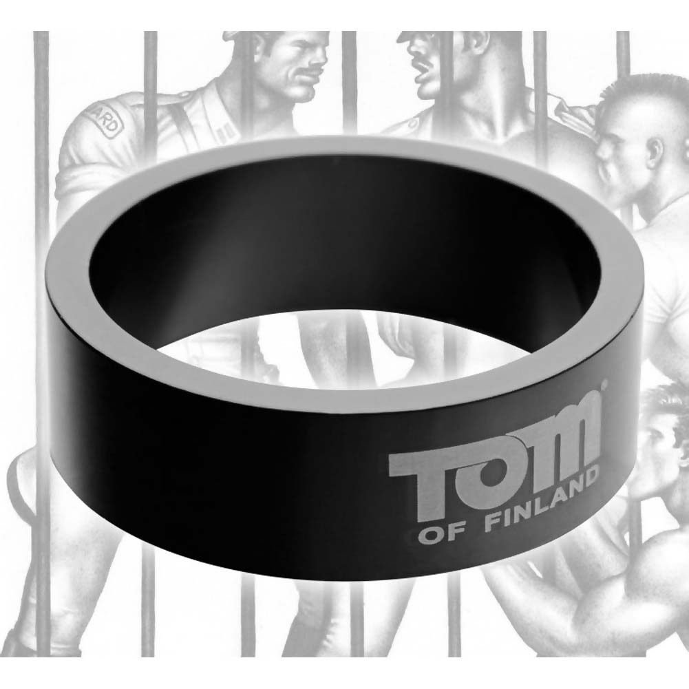 Tom of Finland Aluminum Cock Ring 60 Mm Black - View #3