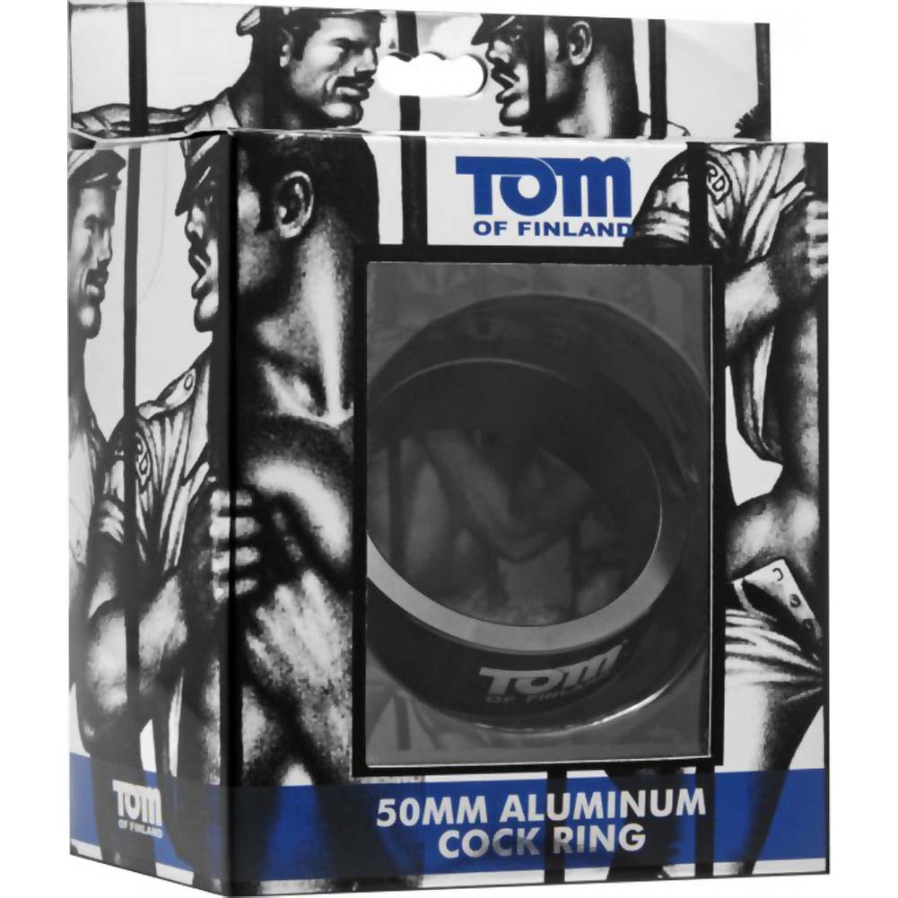 Tom of Finland Aluminum Cock Ring 50 Mm Black - View #1