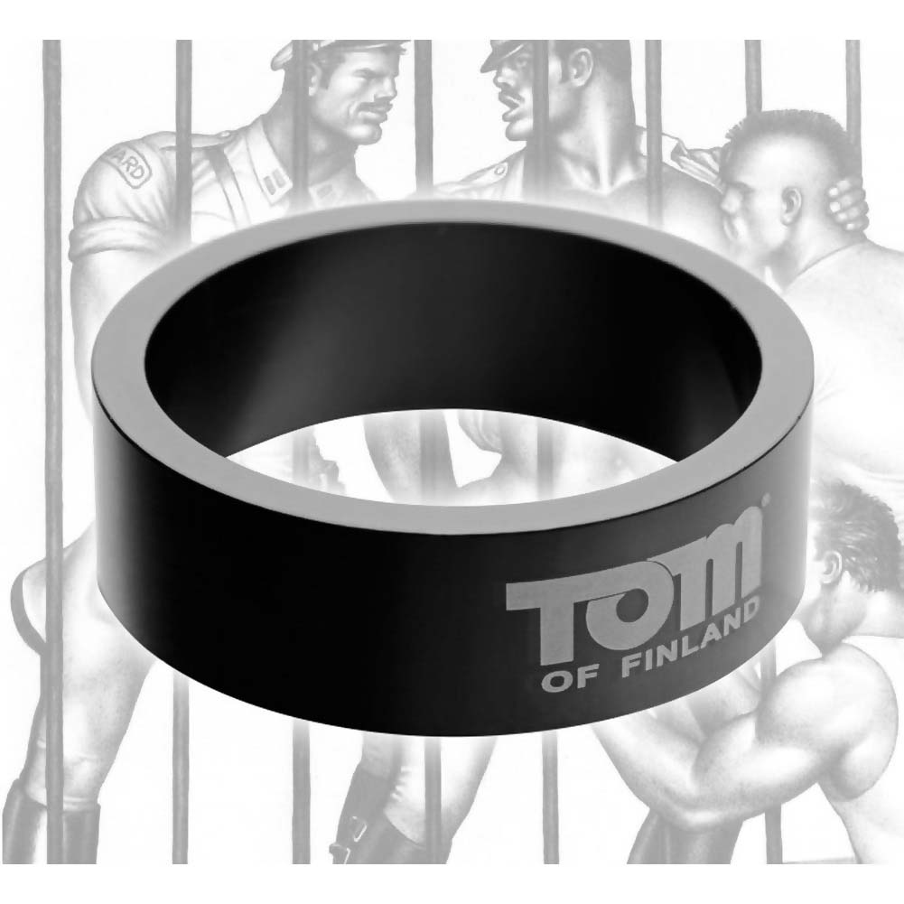 Tom of Finland Aluminum Cock Ring 50 Mm Black - View #3