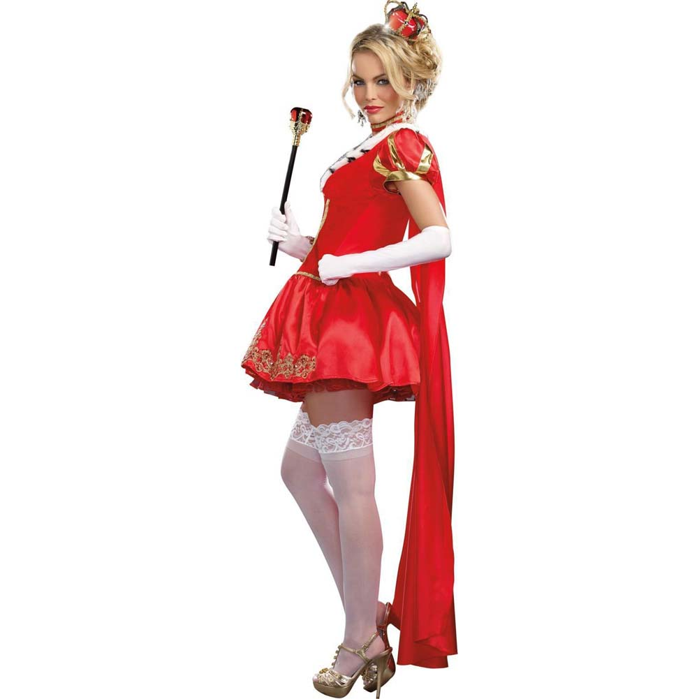 Dreamgirl WomenS Sexy Queen Costume the Royals Medium Red - View #2