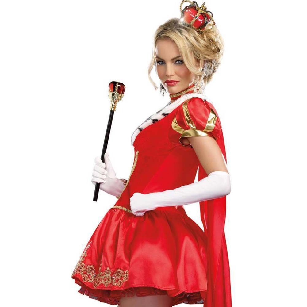Dreamgirl the Royals Sexy French Queen Costume Medium Red - View #4