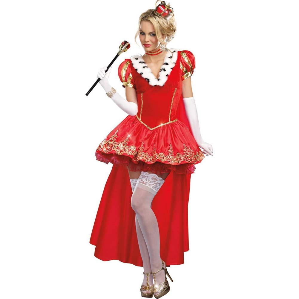 Dreamgirl the Royals Sexy French Queen Costume Large Red - View #1