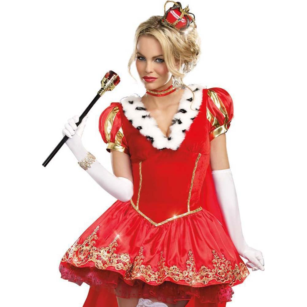 Dreamgirl the Royals Sexy French Queen Costume Large Red - View #3