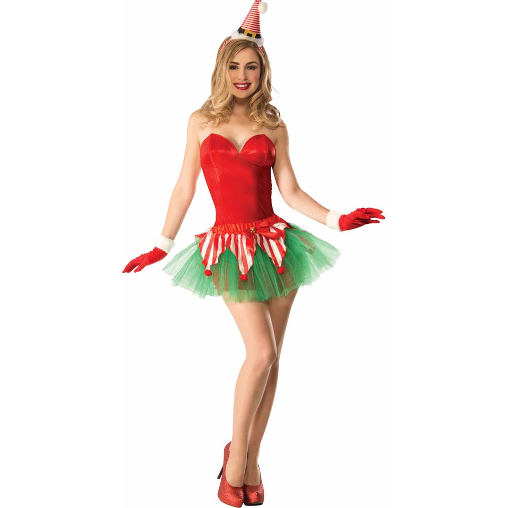 Christmas Candy Cane Tutu Costume One Size Red/Green - View #1