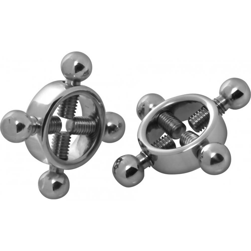 Masters Stainless Steel Rings of Fire Nipple Press Set Silver - View #2