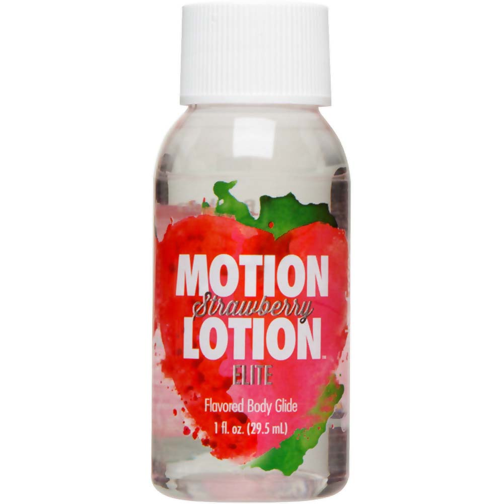 Motion Lotion Elite Body Glide Lubricant 1 Fl.Oz Strawberry - View #1