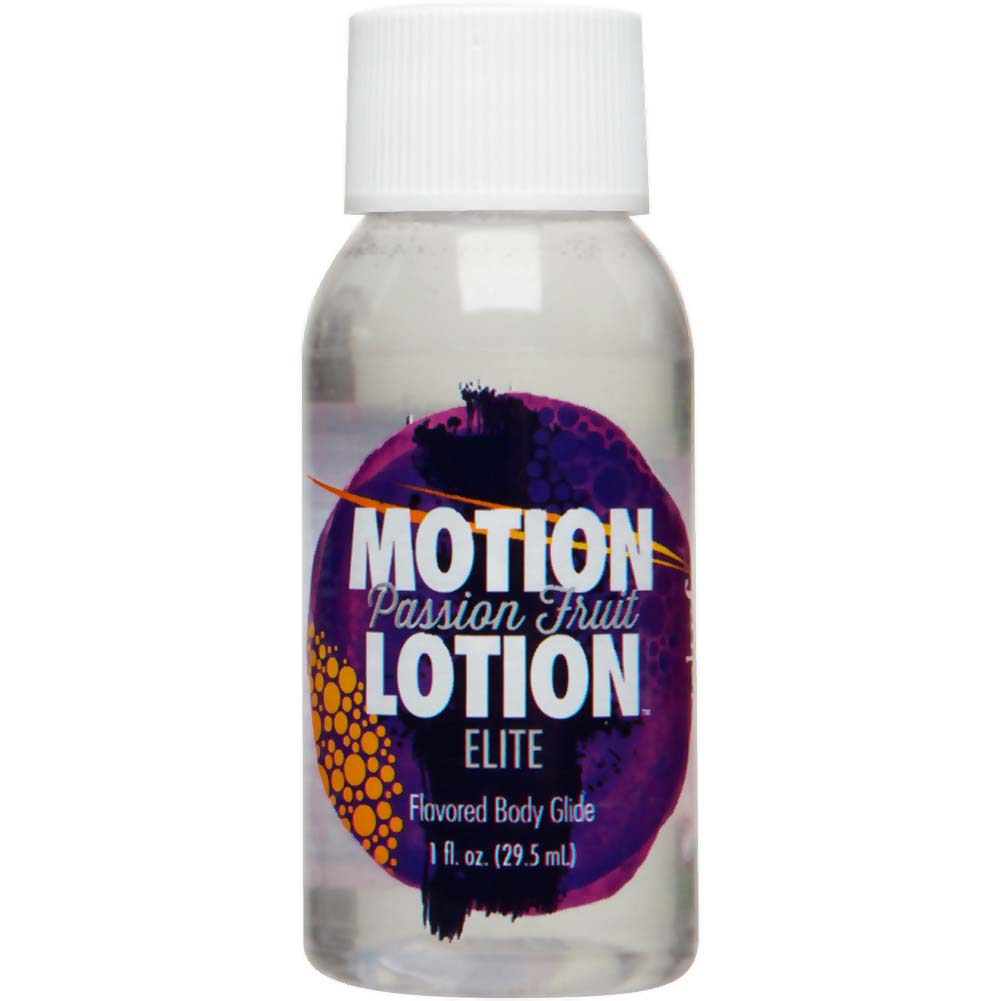 Motion Lotion Elite Flavored Body Glide Lubricant 1 Fl.Oz 30 mL Passion Fruit - View #1