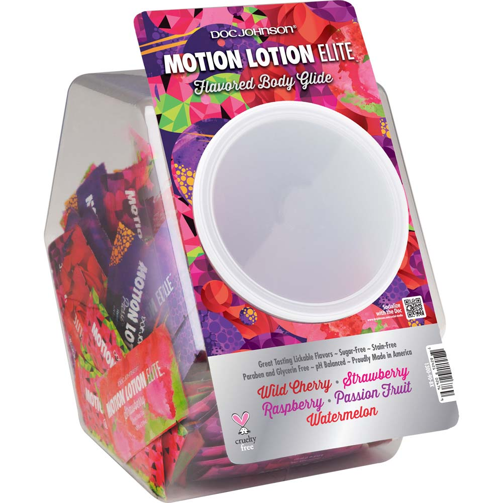 Motion Lotion Elite Fishbowl Display 120 Pieces Assorted Pillow Paks .24oz Each - View #2