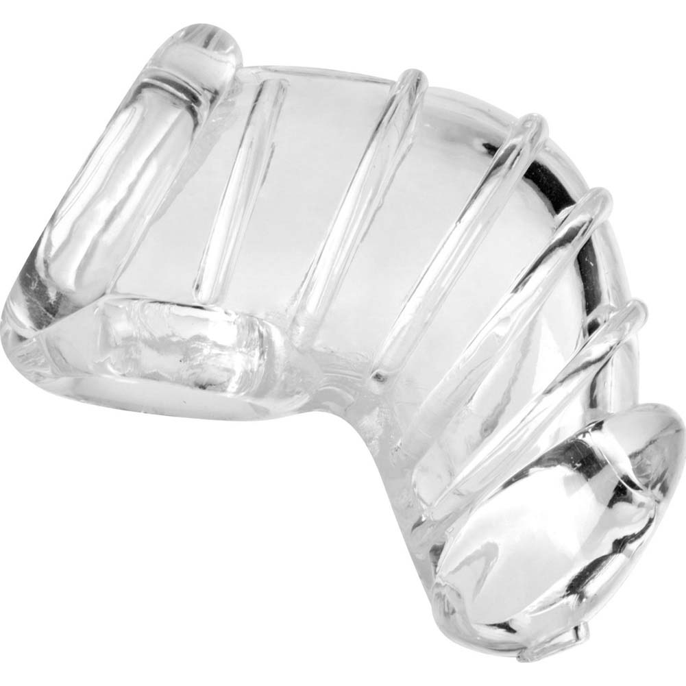 Masters Detained Soft Body Chastity Cage Clear - View #2