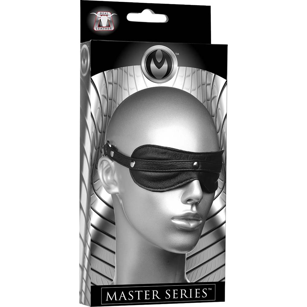 Masters Strict Leather Padded Blindfold Black - View #4