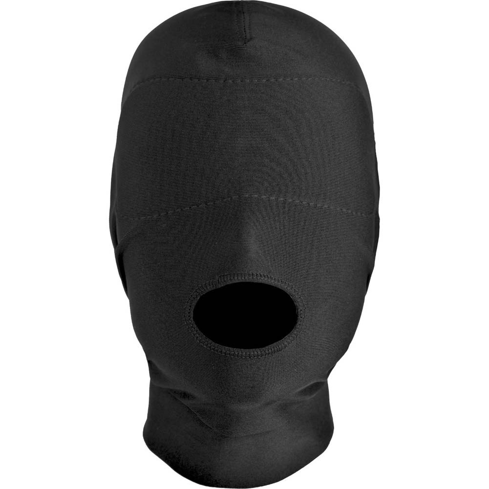 Master Series Disguise Open Mouth Hood with Padded Blindfold Black - View #3