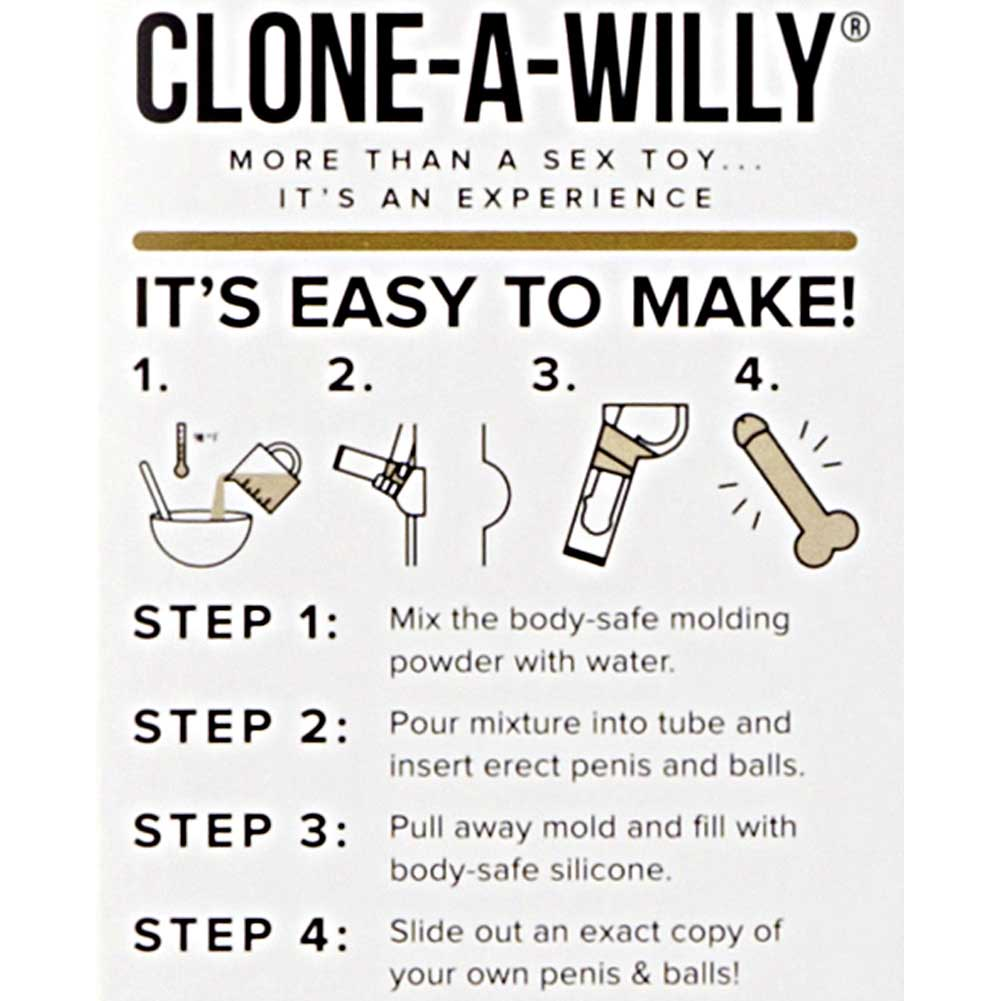 Clone-A-Willy Plus Balls Kit to Make Your Own Silicone Vibrating Dildo Light Skin Tone - View #3