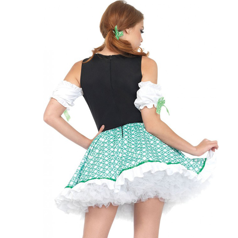 Clover O Cutie 2 Piece St Patricks Costume Small/Medium Green/White - View #2