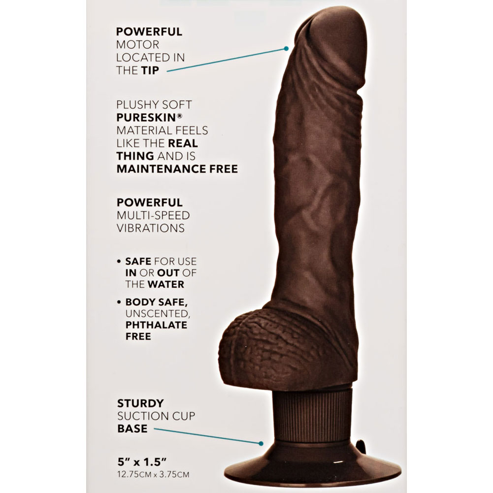 "CalExotics Shower Stud Vibrating Super Stud With Suction Cup Base 8"" Brown - View #1"