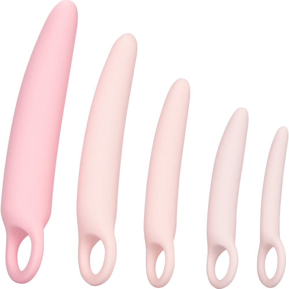CalExotics Inspire Silicone Dilator 5 Piece Kit Pink - View #3