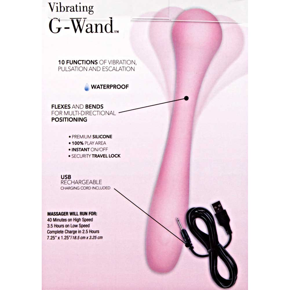 "California Exotics Inspire Bendable Silicone Rechargeable Vibrating G-Wand 7.25"" Pink - View #1"
