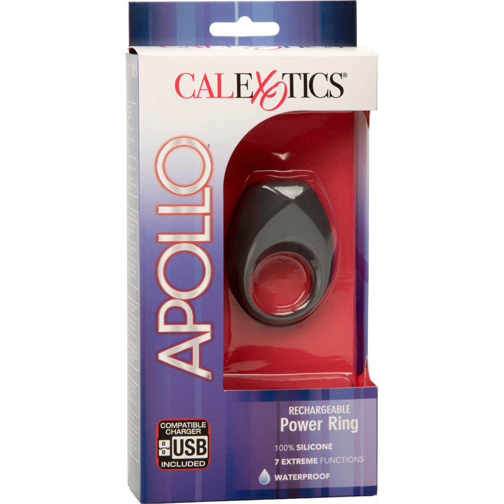 Apollo Rechargeable Vibrating Power Ring Gray - View #4